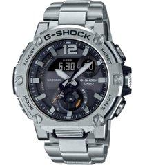 g-shock men's analog-digital g-steel stainless steel bracelet watch 43mm gift set
