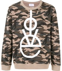 ports v love camo sweater - green