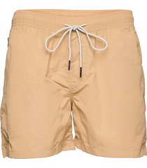 beige nylon swim shorts badshorts beige oas