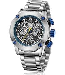 reloj de hombre t5 pulso acero h3657g-a - plateado/azul