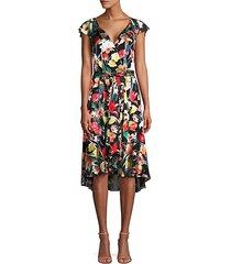 ryder floral silk-blend flounce dress