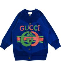 gucci blue cotton jersey sweatshirt