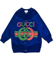gucci blue cotton jersey sweatshirt