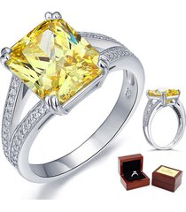 6 carat yellow canary diamond wedding anniversary ring fine 925 sterling silver