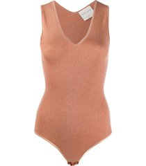 forte forte sleeveless fitted bodysuit - pink