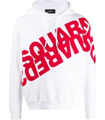 dsquared2 mirrored logo-print cotton hoodie
