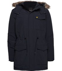 winter weight microfleece jacket parka jacka blå lyle & scott