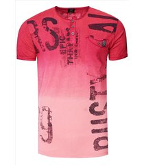 rusty neal t-shirt heren - bordeaux 15272
