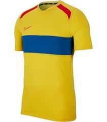 camiseta de hombre m nk dry acdmy top ss sa nike amarillo
