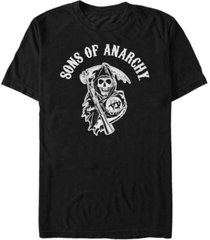 sons of anarchy men's grim reaper patch short sleeve t-shirt