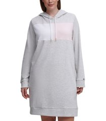 tommy hilfiger plus size colorblocked hoodie dress