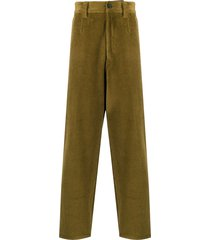 acne studios tapered corduroy trousers - green