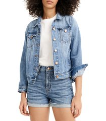 women's j.crew high waist eco denim shorts