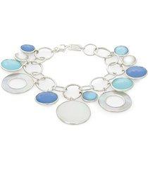 ippolita women's sterling silver, clear quartz & mother-of-pearl bracelet