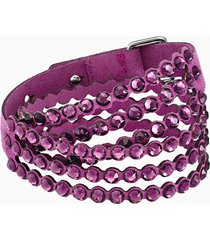 braccialetto swarovski power collection, viola