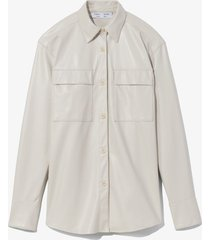 proenza schouler white label faux leather shirt off white 6