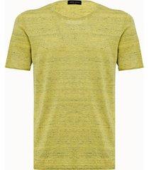 roberto collina maglia in misto lino giallo