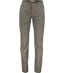 mac lennox pantalon modern fit bruin katoen