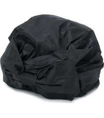 maison michel zoe shiny taffeta turban - black