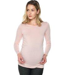 camiseta maternidad mng larga palo rosa moms closet,