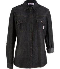 camicia di jeans a maniche lunghe (nero) - john baner jeanswear