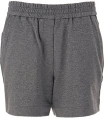 brunello cucinelli stretch cotton lightweight french terry shorts anthracite