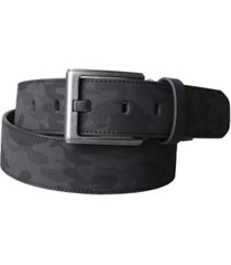 members only split leather camo belt
