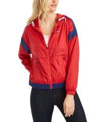 tommy hilfiger sport colorblocked windbreaker jacket