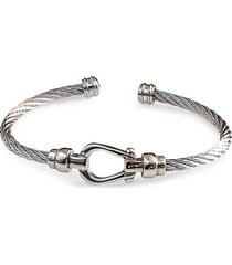 jean claude men's stainless steel cable bangle