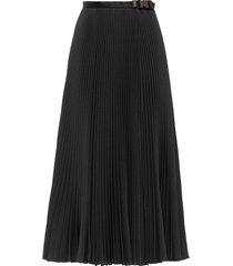 prada belted pleated skirt - black