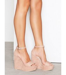nly shoes wedge sandal high heel dusty pink