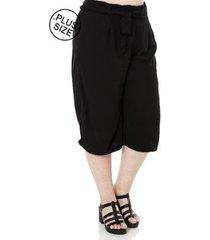 calça cambos pantacourt plus size feminina