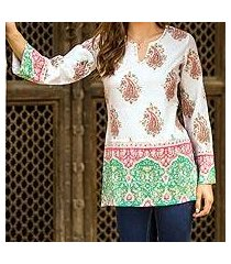 beaded cotton tunic, 'beautiful jaipur' (india)