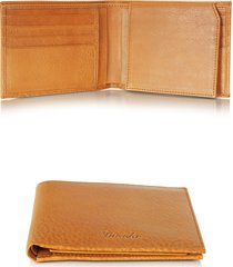 pineider designer men's bags, country cognac leather billfold wallet w/flap