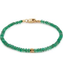 'bamboo' emerald bead bracelet