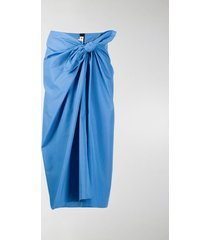 marni knotted mid-length skirt