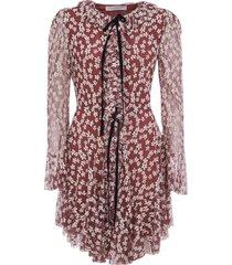 philosophy di lorenzo serafini all-over floral print ruffled dress