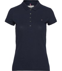 heritage short sleeve slim polo t-shirts & tops short-sleeved tommy hilfiger