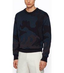 boss men's camouflage-pattern sweater