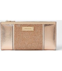 river island womens rose gold heatseal panel metal top purse