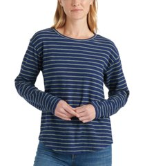 lucky brand easy striped long-sleeve t-shirt