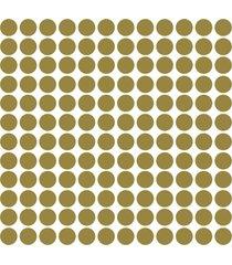 adesivo de parede bolinhas douradas 144un - dourado - dafiti