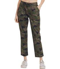 women's l.t.j crop cargo pants, size medium - green
