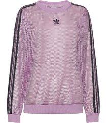 mesh crew sweat-shirt tröja lila adidas originals