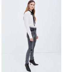 motivi jeans skinny con strappi modello gisele donna nero