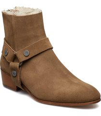 sonlux suede shoes boots ankle boots ankle boots flat heel brun zadig & voltaire