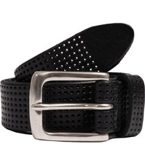 anderson's belts perforated leather belt - black af3392-n1 pl100
