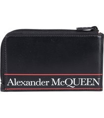 alexander mcqueen printed logo wallet