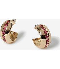 *chubby stone hoop earrings - clear
