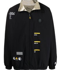 aape by *a bathing ape® reversible graphic-print bomber jacket - black